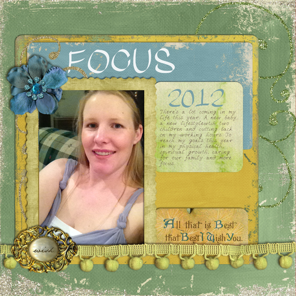 Create Digital Scrapbook Pages using Templates