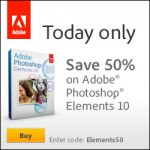 50% off Photoshop Elements 10 today only!
