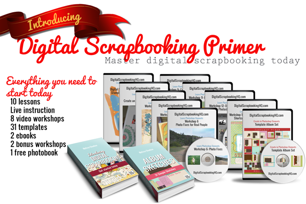 Save $50 on the Digital Scrapbooking Primer today