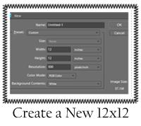 Create 12x12