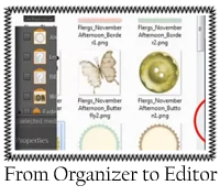 From Organizer to Editor