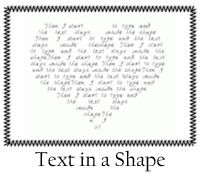 Text in a Shape