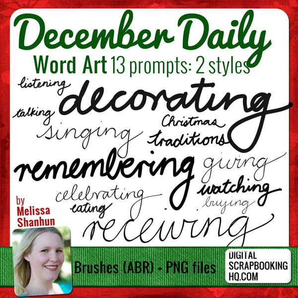 December Daily Word Art