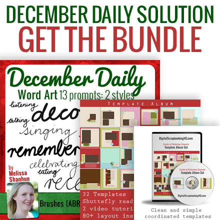 December Scrapbooking Solution
