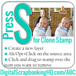 ABCs of PSE: S is for Clone Stamp