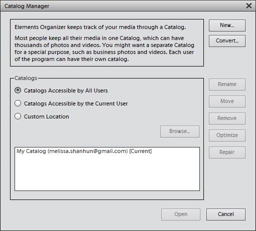 manage catalog