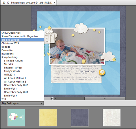 Open an album in Photoshop Elements Editor