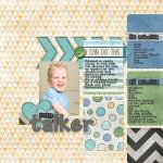 Take a look inside my album to see my Little Talker layout! #digiscrap #digital #scrapbooking