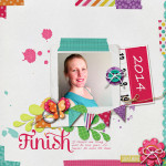 Take a look inside my album to see my Finish layout! #digiscrap #digital #scrapbooking