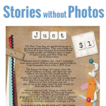 Learn how to scrapbook stories without photos. Click for full tutorial! #digiscrap #digital #scrapbooking