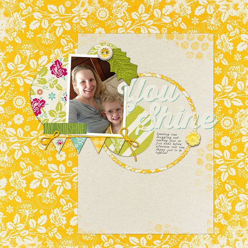 Take a look inside my album to see a Mummy & Daughter layout! #digiscrap #digital #scrapbooking