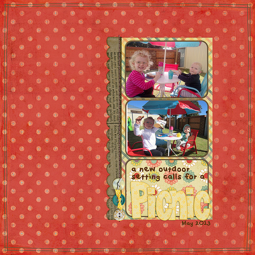 Take a look inside my album to see my Picnic layout! #digiscrap #digital #scrapbooking