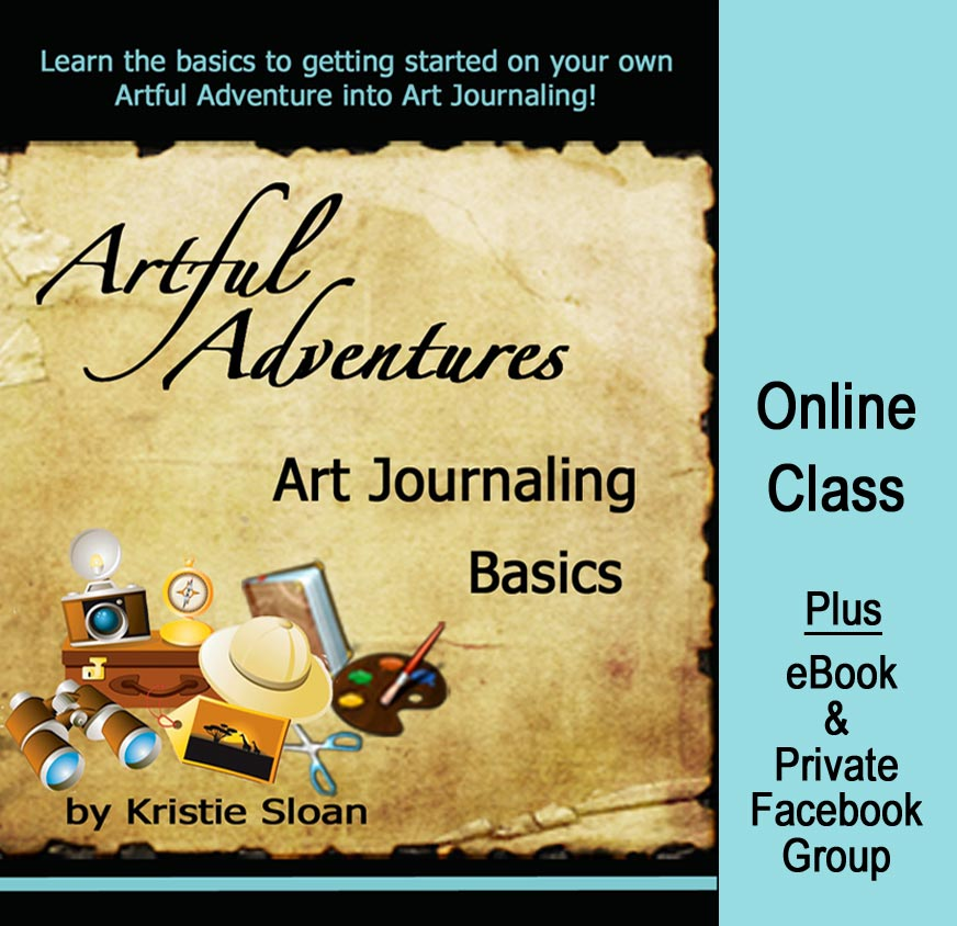 Learn Art Journaling basics with Kristie Sloan http://www.digitalscrapbookinghq.com/art-journaling-kristie-sloan/ #creativechristmas #craft