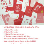 A Festive Printable Digi Pack with Margareta Carlsson