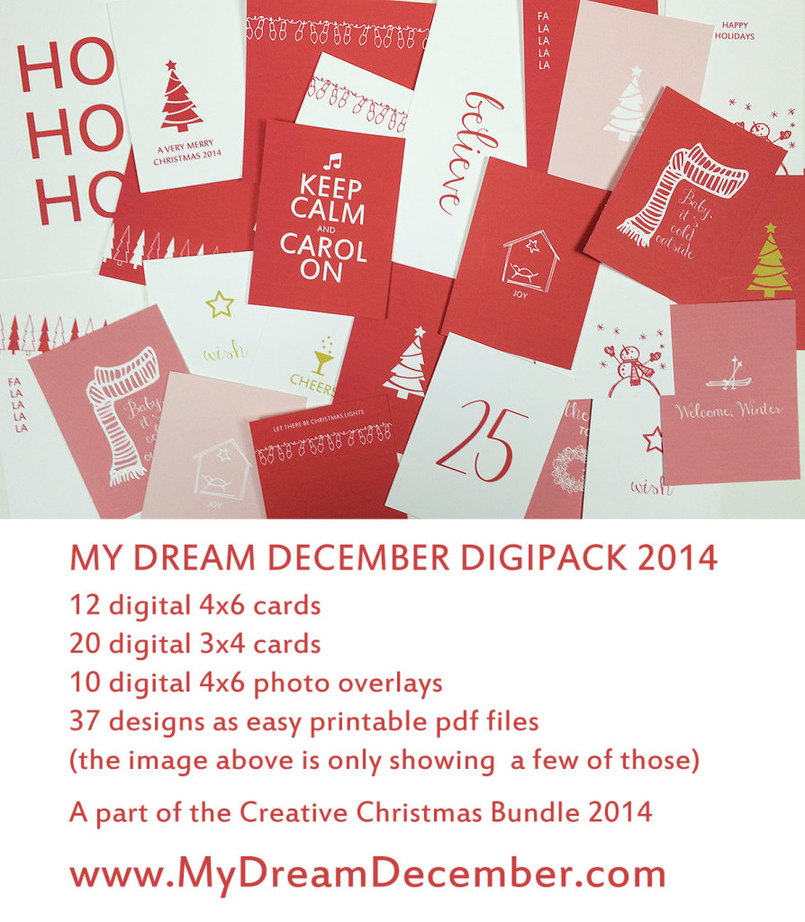 Document your Christmas with this fun and festive DigiPack from Margareta Carlsson http://www.digitalscrapbookinghq.com/festive-digi-pack-margareta-carlsson‎ #printable #digi #mydreamdecember