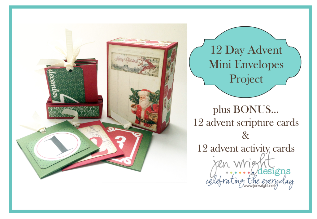 Make fun family memories with this 12 day Advent Calendar from Jen Wright http://www.digitalscrapbookinghq.com/pocket-advent-jen-wright/ #advent  #family #DIY