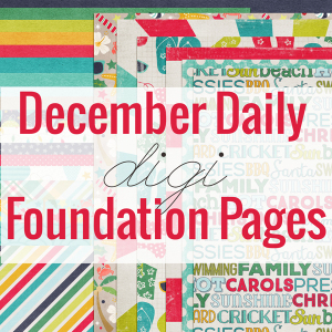 December Daily Digi Foundation pages