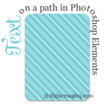 Text on a path in Photoshop Elements