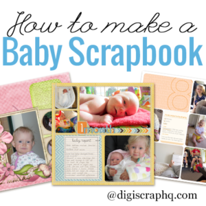 how to make a baby scrapbook album digital scrapbooking hq