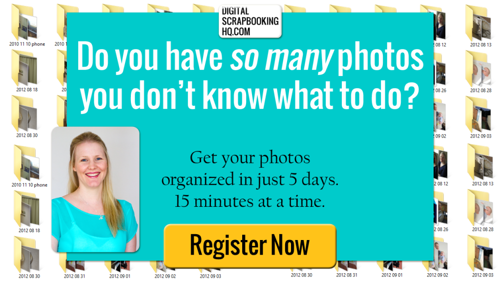 Do you have so many photos you don't know what to do? Get your photos organized in just 5 days. 15 minutes at a time! #photography #photos #organized