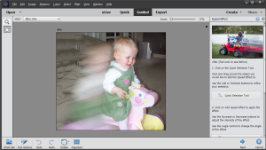 Photoshop Elements 14 speed guided edit