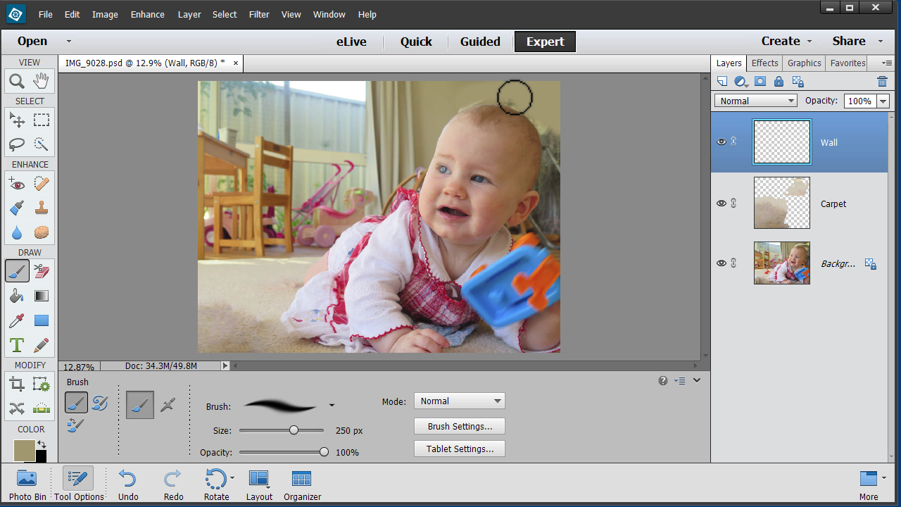 How To Clean Up The Background Of A Photo In PSE