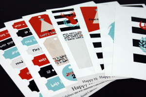 Happy Holidays Printables Set by Jen Gallacher
