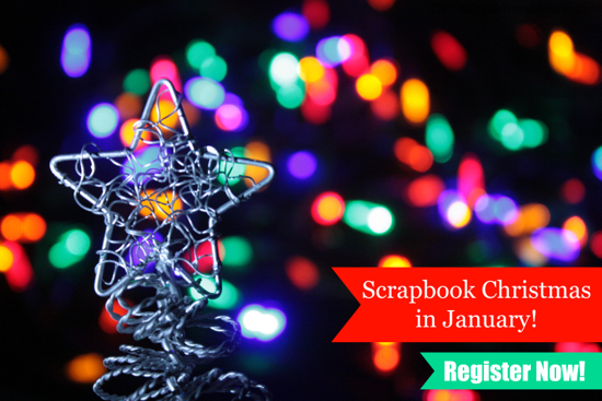 In Alice Boll's class Christmas in January you will get quick email prompts in Dec and in Jan you will receive emails to inspire your holiday scrapping. #scrapbooking #creativechristmasbundle