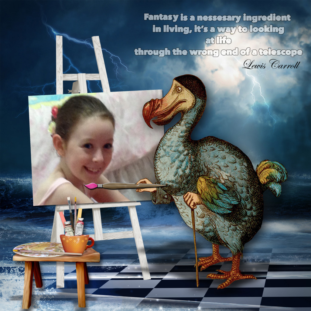While I'm on maternity leave I've invited my readers to share their creations. Take a look at Rhonda Blaney's amazing fantasy layouts! #digiscrap #scrapbooking