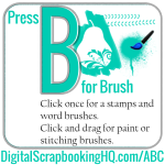Use the Brush Tool in Your Digital Scrapbooking
