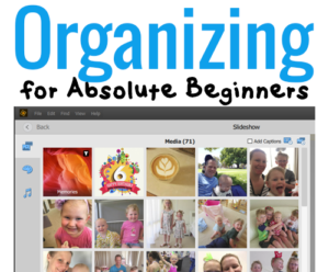 Today I'm going to talk to you all about Photoshop Elements Organizer! Listen in to learn more about Organizing for Absolute Beginners! #digiscrap #scrapbooking